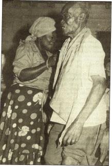 El hungán Nicolás Cazal, hijo de un hungán haitiano de los que llegaron a Cuba a principios del siglo XX.